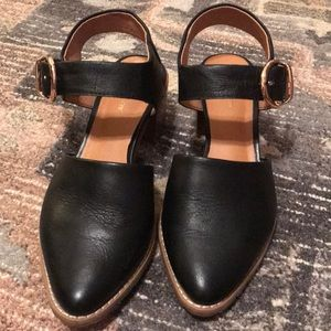 All Black Black Strap Heel from Anthropologie